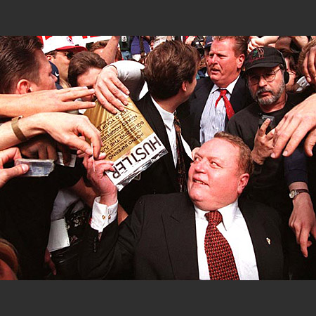 an analysis of the controversy of larry flynt an infamous pornographer and free speech activist