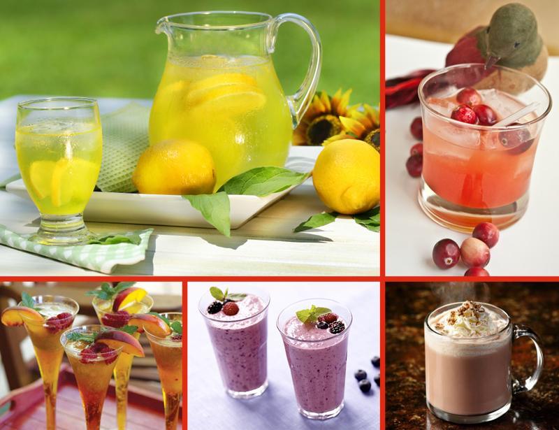 рецептъ летних коктейлей и напитков