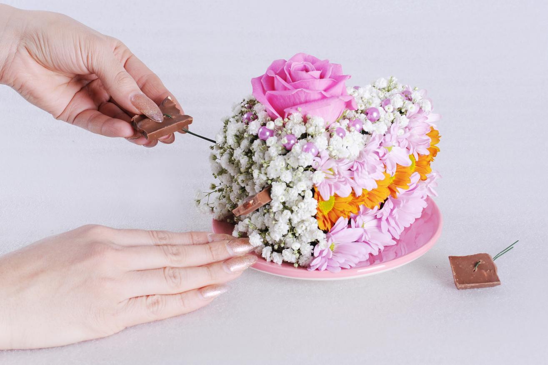 Букет на флористической пене своими руками