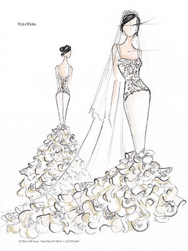 2a00d8ac6bf Три свадебных платья Ким Кардашьян  эскизы!