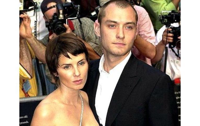 джуд лоу с женой фото
