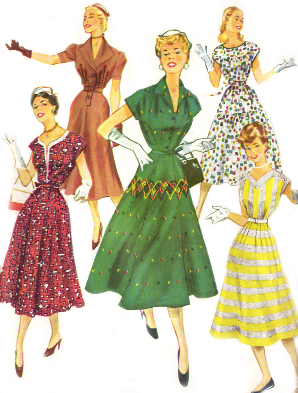 fashion in the 1950s Times have changed since the 1950s -- and that's definitely a good thing if fashion models of the 1950s could time travel to 2015, i have a feeling thin.