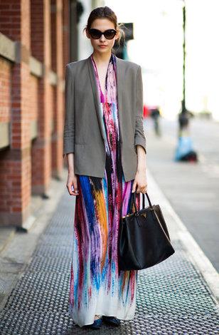 Куртка к длинному платью фото