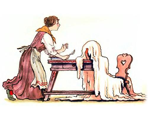 Раскраска по сказке горшок каши