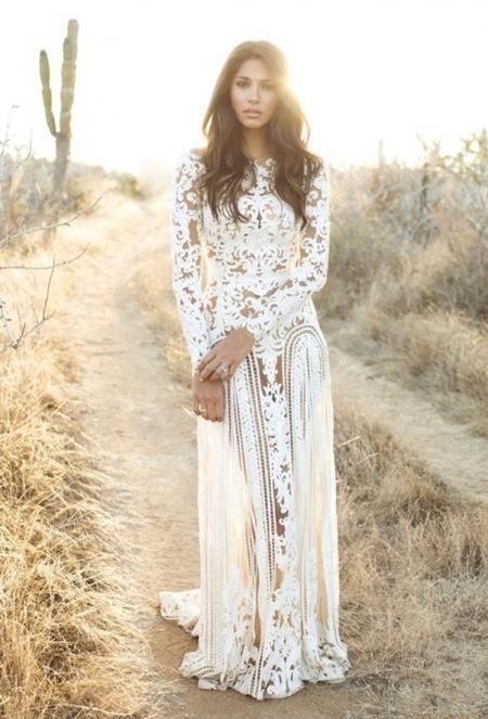 Платье в стиле бохо шик свадебное