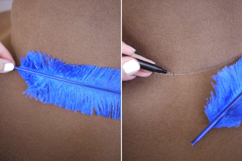 Как сделать перо на шляпу из бумаги