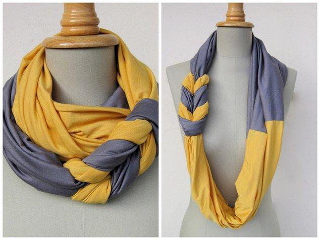 Как сделать шарф косичкой