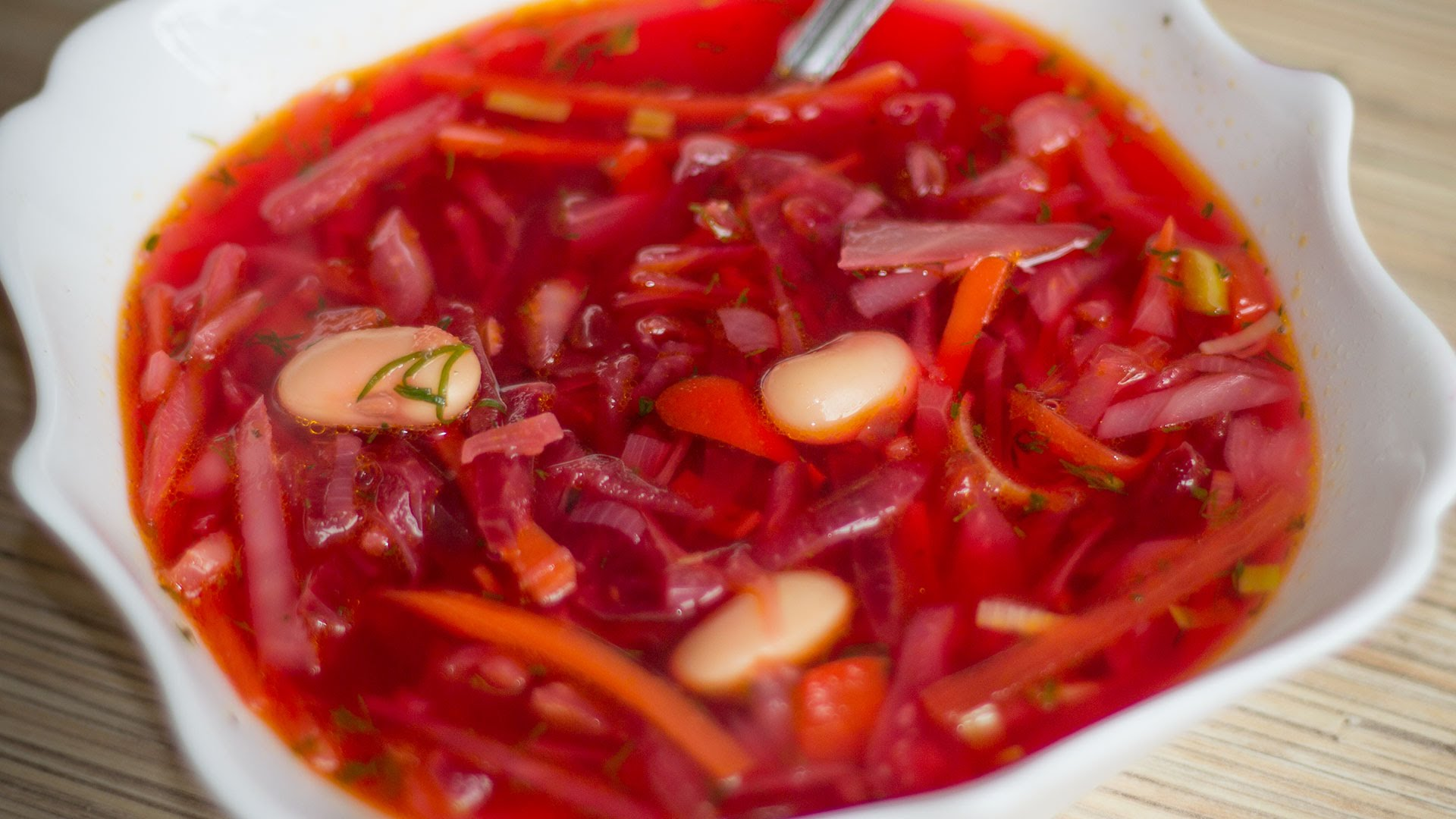 Борщ без мяса с фасолью рецепт пошаговый