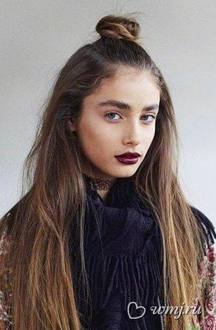 Модные причёски на распущенные волосы