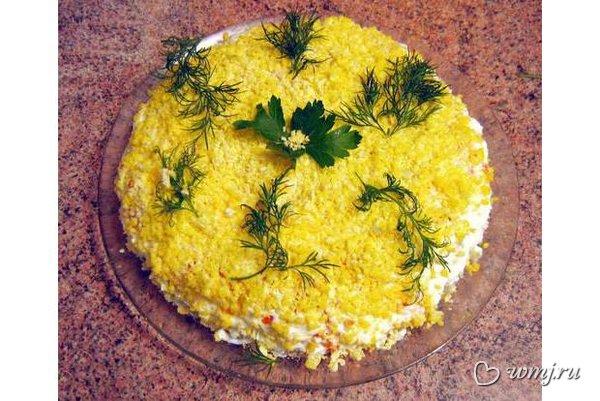 Салат рыбный рецепт фото мимоза