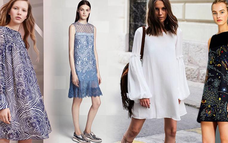 платья модного силуэта фото