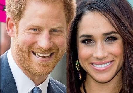 Папарацци сделали первые фотографии принца Гарри иМеган Маркл совместно