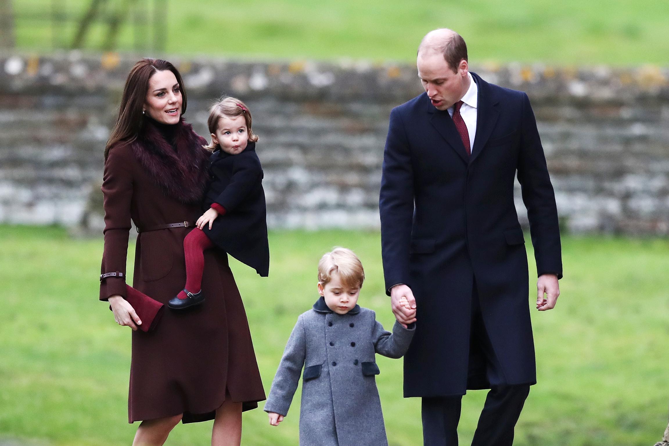 Принц уильям и кейт миддлтон и дети фото