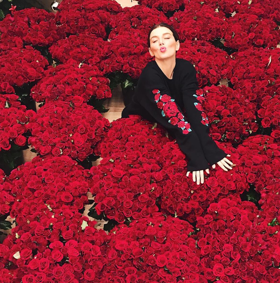 Анна Седокова похвасталась множеством роз