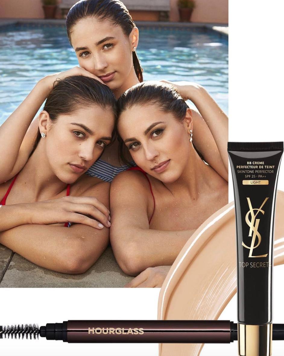 Три грации: дочери Сталлоне снимались  в новейшей  рекламной кампании