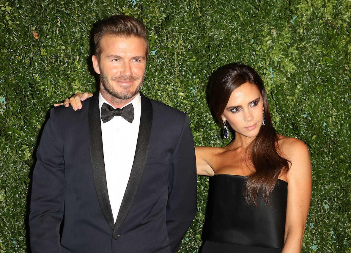 Дэвид бекхэм с женой фото