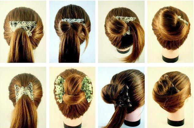 Как сделать на волосы заколку банан